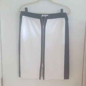 Calvin Klein zip up/down skirt